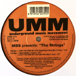 "MBS Presents The Strings - Don't You Want My Love/Disco Boom (12"") (VG-/NM)"